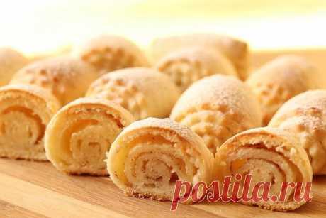 Нежное творожное печенье с корицей и сахаром