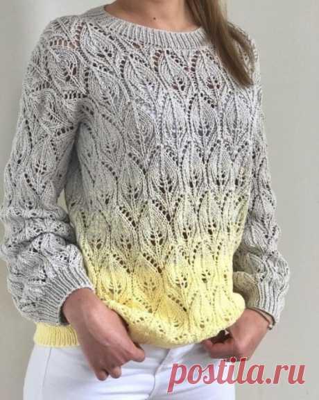 Эффектный узор для пуловера из категории Интересные идеи – Вязаные идеи, идеи для вязания
