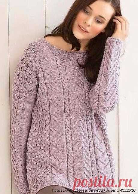 Pattern for a pullover spokes