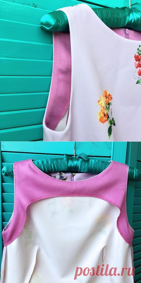 Обработка цельнокроеной обтачкой платья без рукавов — Мастер-классы на BurdaStyle.ru