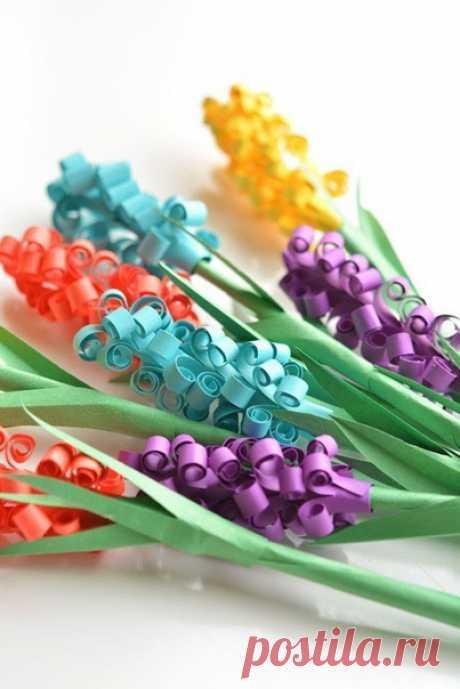Поделки вместе с детьми: создаём весенние цветочки из бумаги — Поделки с детьми