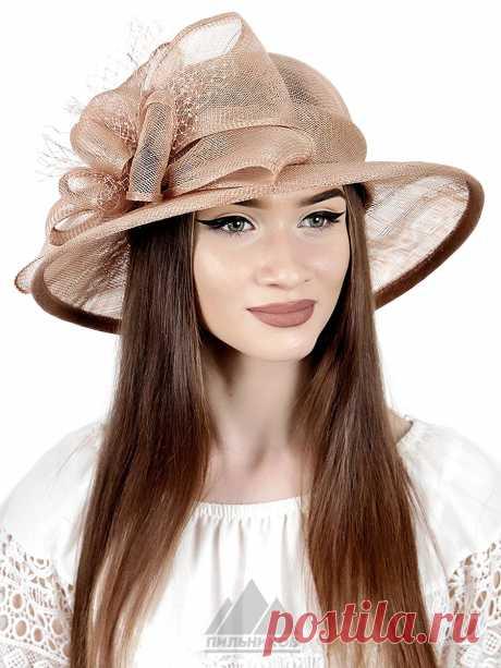 Шляпа Мидори - Женские шапки - Из соломки купить по цене 3390 р. с доставкой в Интернет магазине Пильников