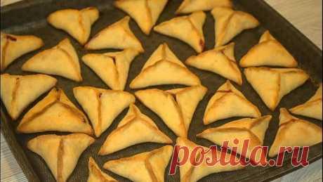 Творожное печенье треугольники с вишней -когда хочется чего-нибудь вкусного