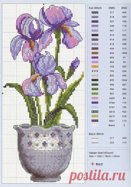 Схемы вышивки цветов — DIYIdeas