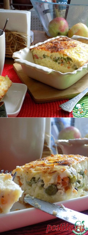 Вермишелевая запеканка с овощами и колбасой – кулинарный рецепт