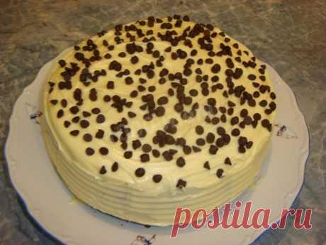 Ванильный торт на кипятке рецепт с фото пошагово - 1000.menu