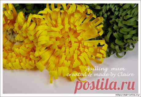 Хризантемы из бумаги. Фото мастер-класс