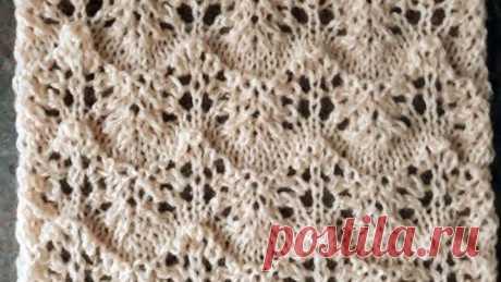Полупрозрачный ажурный узор спицами для летней блузы, кардигана, туники