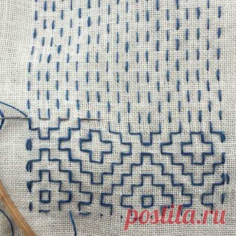 Малоизвестная техника вышивки сашико (подробный мастер-класс) | Рукоделие