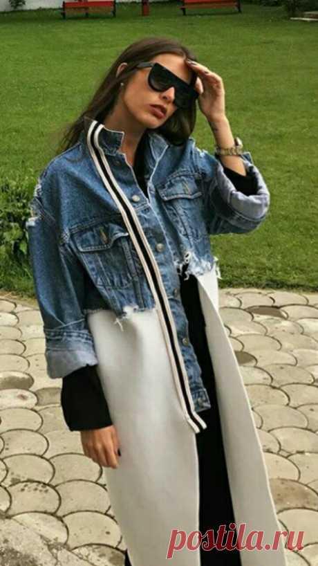 Переделка джинсового пальто Модная одежда и дизайн интерьера своими руками