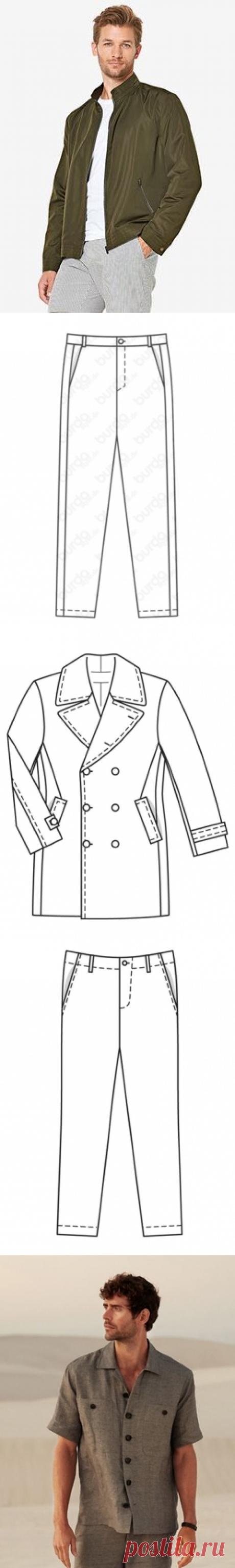 Выкройки мужской одежды Burda – купить и скачать выкройки на Burdastyle.ru