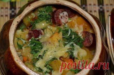 Бесценный рецепт для сытного ужина — Картошка с охотничьими колбасками