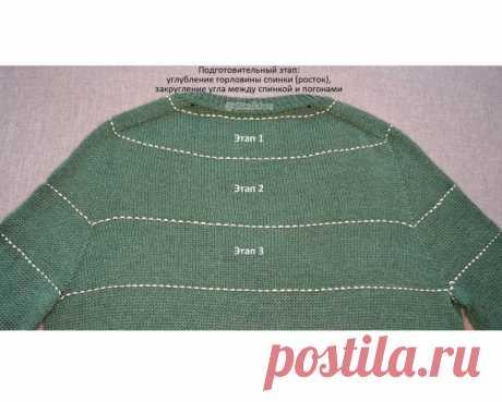 Реглан-погон – 3 основных этапа вязания на основе пуловера (Вязание спицами) – Журнал Вдохновение Рукодельницы