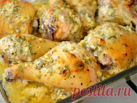 Замечательный рецепт: курица в духовке в маринаде по-гречески