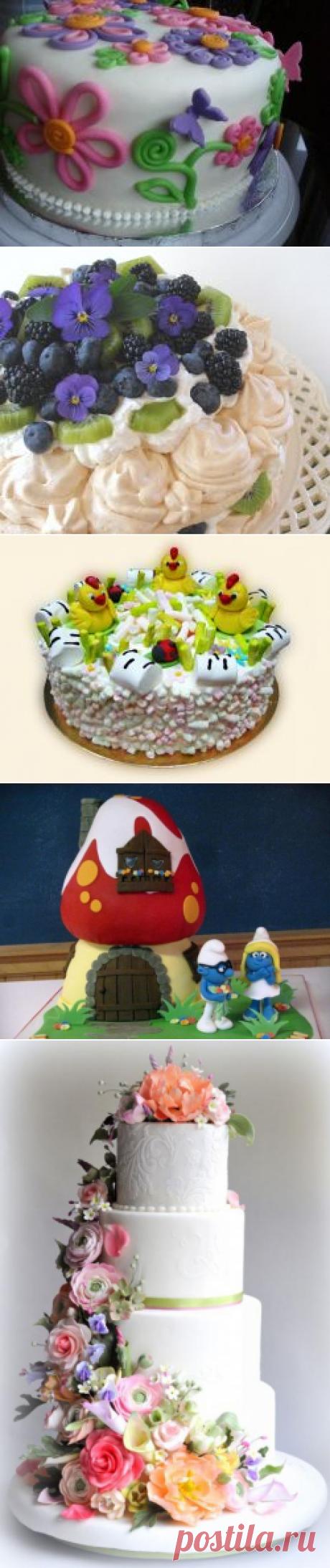 Торт из мастики своими руками: фото, мастер-класс. Как украсить торт мастикой: для детей, свадебный :: SYL.ru