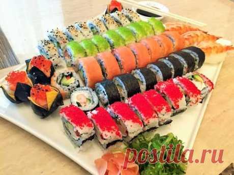 СУШИ И РОЛЛЫ домашние.  Легко и Просто!  Как приготовить вкусно, быстро и красиво! How to make Sushi