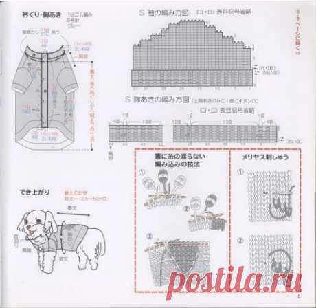 Вязаная одежда для маленьких собак схемы