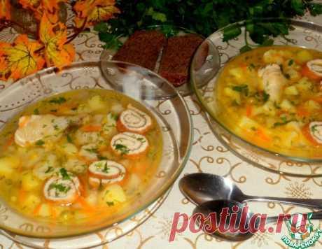 Куриный суп с омлетом и овощами – кулинарный рецепт