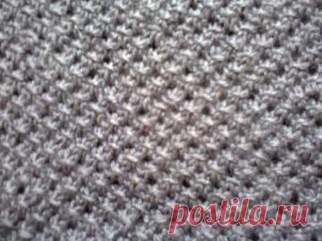 La labor de punto sobre los rayos (la cinta setochka). Knitting (mesh pattern). - YouTube