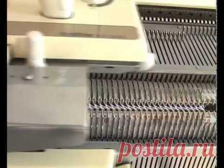 Машинное вязание, узор со сдвигом.