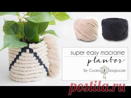 easy macrame planter sleeve - YouTube