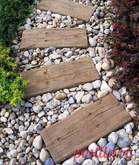 Красивая и простая идея для вашего сада