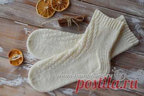 Особенность носочков «Острый зигзаг» - причудливая гибридная пяточка. Irena Handmade
