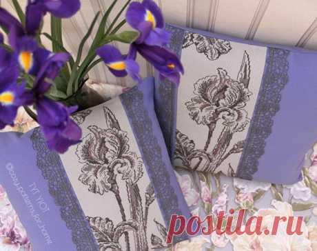 Декоративные подушки своими руками: оформляем вышивку в наволочку