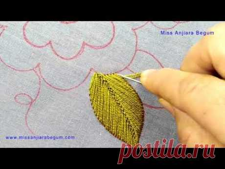 Easiest Embroidery Hoop Art, How to Embroider Large Flower, Big Blooms Pinkish Embroidery-254