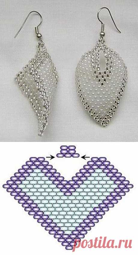 Bead earrings. Beading many schemes | Laboratory household