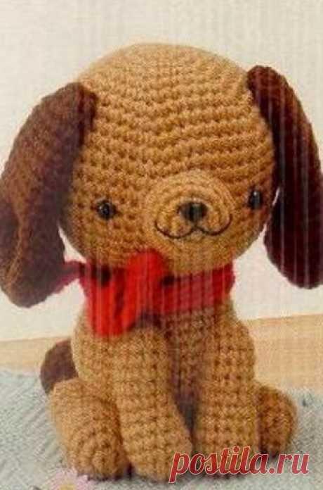 Собачка амигуруми