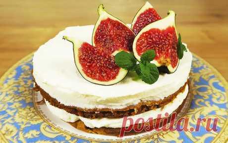 Диетический торт из тыквы со сметанным кремом