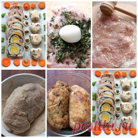Куриные биточки с яйцом Куриные биточки с яйцом Ингредиенты: Грудка куриная (от одной курицы) Яйцо (2 отварных + 1 сырое для панировки) — 3 шт Зелень (у меня укроп, каперсы) Соль
