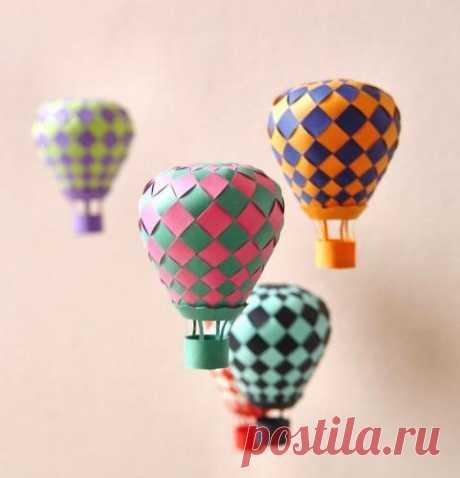 Как сделать воздушный шар из бумаги? | Самоделки