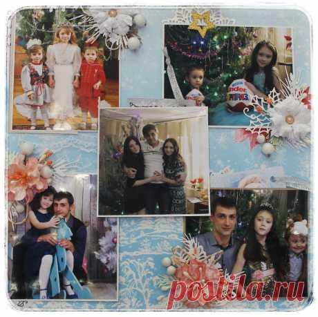 """Вариант работы на школьный конкурс """"Новогодние семейные традиции"""" фото коллаж. Была представлена в декабре 2018года."""