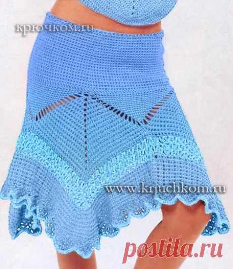 Юбки крючком. Схемы вязания, описания и фото. Модные модели для женщин
