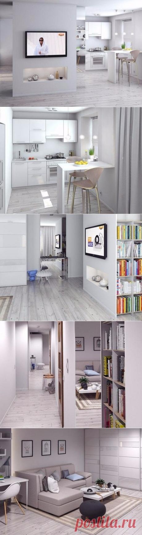 Однокомнатная хрущевка после перепланировки, 33кв. м - Дизайн интерьеров   Идеи вашего дома   Lodgers