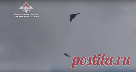 Минобороны показало совместный полёт БЛА «Охотник» и Су-30СМ | Армия