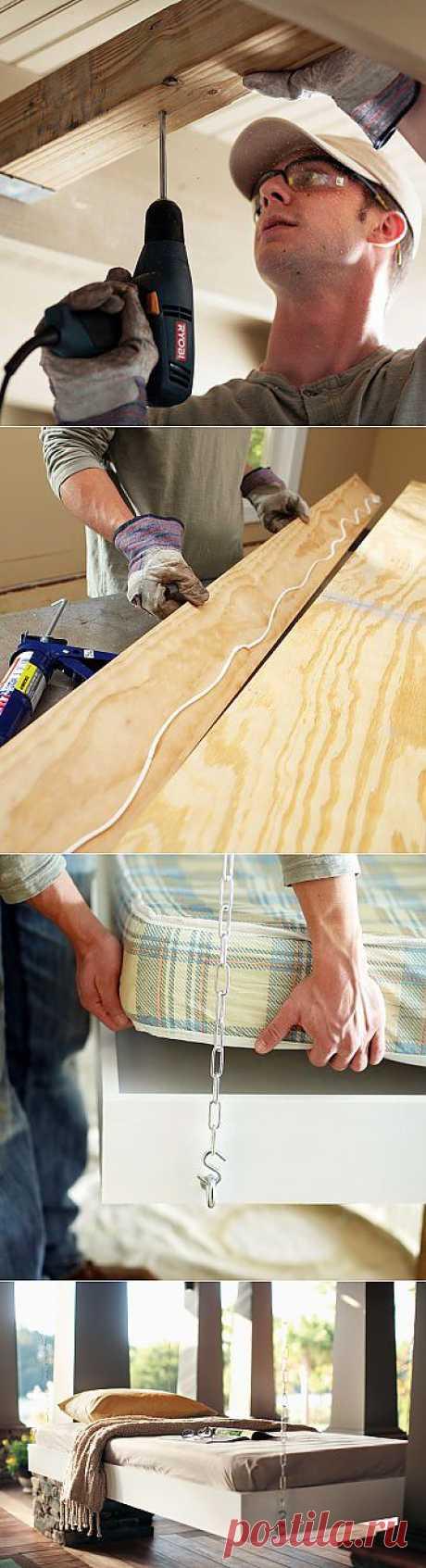 Подвесная кровать своими руками.