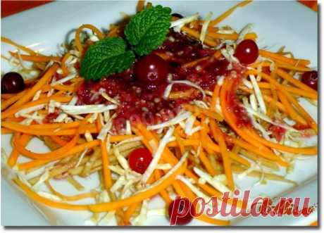 Салат ореховый с клюквенным соусом рецепт с фото пошагово - 1000.menu