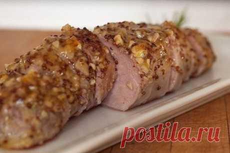 Как приготовить свиная вырезка в меду и горчице - рецепт, ингредиенты и фотографии