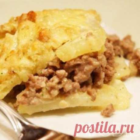 Картошка с фаршем в мультиварке - МирТесен