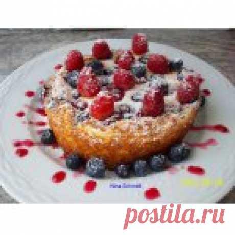 Нежный пирог с творогом Кулинарный рецепт