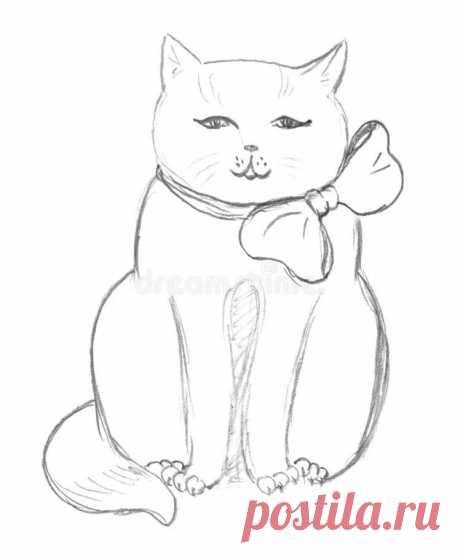 «Sitting cat sketch stock illustration. Illustration of hand » — карточка пользователя slavashishaev в Яндекс.Коллекциях