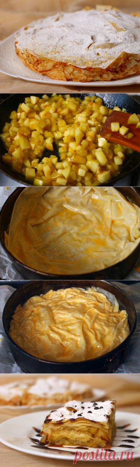 Пирог из теста фило с нежнейшими яблоками: рецепт с фото пошагово