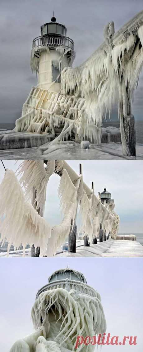 Замороженное озеро Мичиган (8 фото) » Самые интересные факты. Интересные факты. Всё самое интересное в мире.