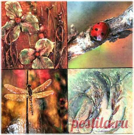 плитку ручной работы купить, плитка авторская, плитка ручной работы, плитка керамическая растения, керамическая плитка с растениями, изображение растений на плитке керамической