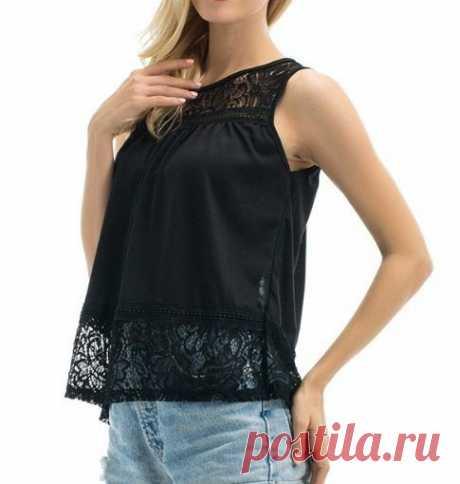 Блузка-топ на кокетке, выкройка от Marlene Mukai на размеры с 36 по 50 (евр.). #простыевыкройки #простыевещи #шитье #блузка #топ #выкройка