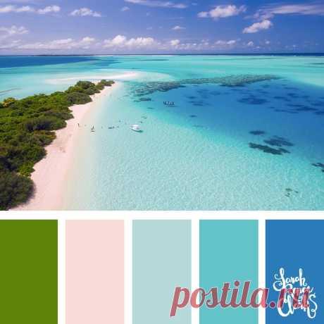 25 Color Palettes Inspired by Beautiful Landscapes | Inspiring color schemes by Sarah Renae Clark  Прекрасные пейзажи вход 1