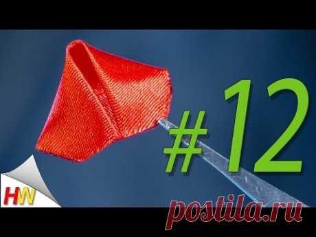 """Треугольный лепесток """"Канзаши""""/The triangular petal """"kanzashi""""/Kanzashi tutorial"""